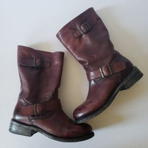 Gorgeous Goodyear Welt Leather Moto Cowboy Boots